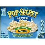 Pop-Secret 94% Fat Free Butter Popcorn, 100 Calorie Pop, 4-Count, 4.8 Oz