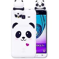 ZCRO Hülle für Samsung Galaxy J3 2016 / J3 2015, Silikon Handyhülle Case Schutzhülle Silikonhülle TPU Hüllen Weich Gummi mit Muster Schöne Ultra Dünn Bumper Case Cover für Samsung Galaxy J3 2016/J320