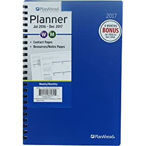 PlanAhead Large HomeOffice 18 Month Planner July 2015 December