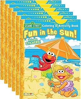 Amazon Com Sesame Street Coloring Activity Book Set Of 4 Books