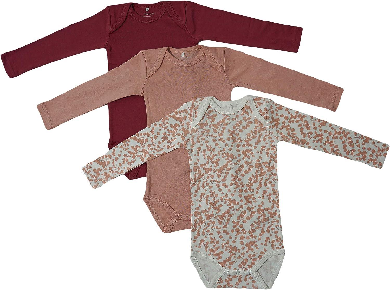 Name It 3er SET BODY Baby Kinder Jungen Mädchen Bodys Einteiler Unterwäsche