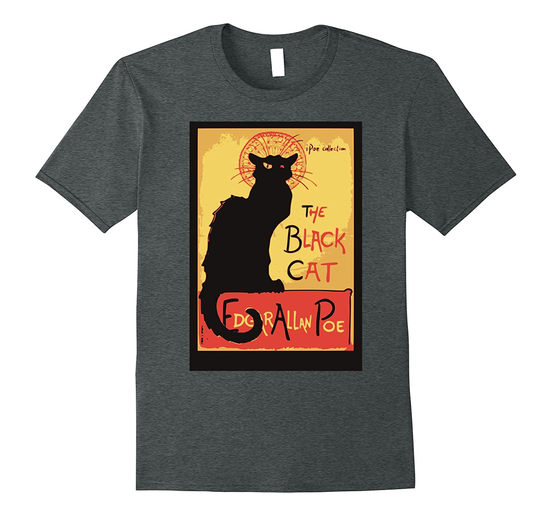 Black Cat poe book cover horror halloween tee-TJ