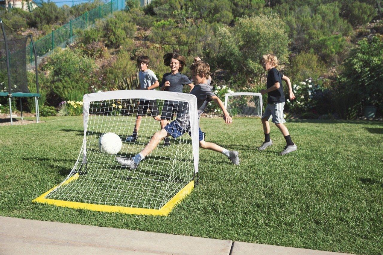 Sklz Goal Set-Lote de 2 002-Porter/ías de f/útbol Color Blanco y Amarillo