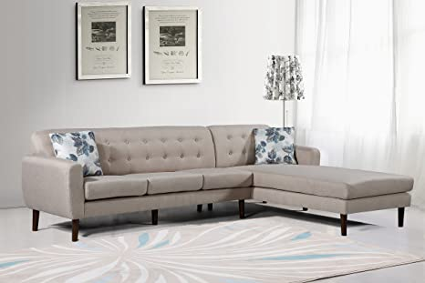Amazon.com: US Pride muebles s00131-r Paula seccional ...