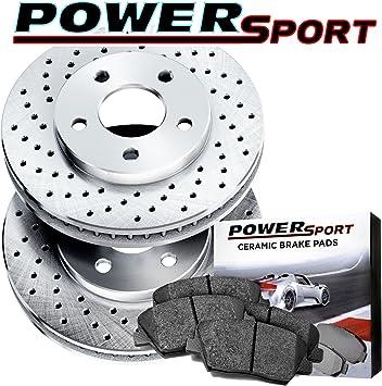 Fits 2011-2014 Honda Odyssey Rear Drill Slot Brake Rotors Ceramic Brake Pads