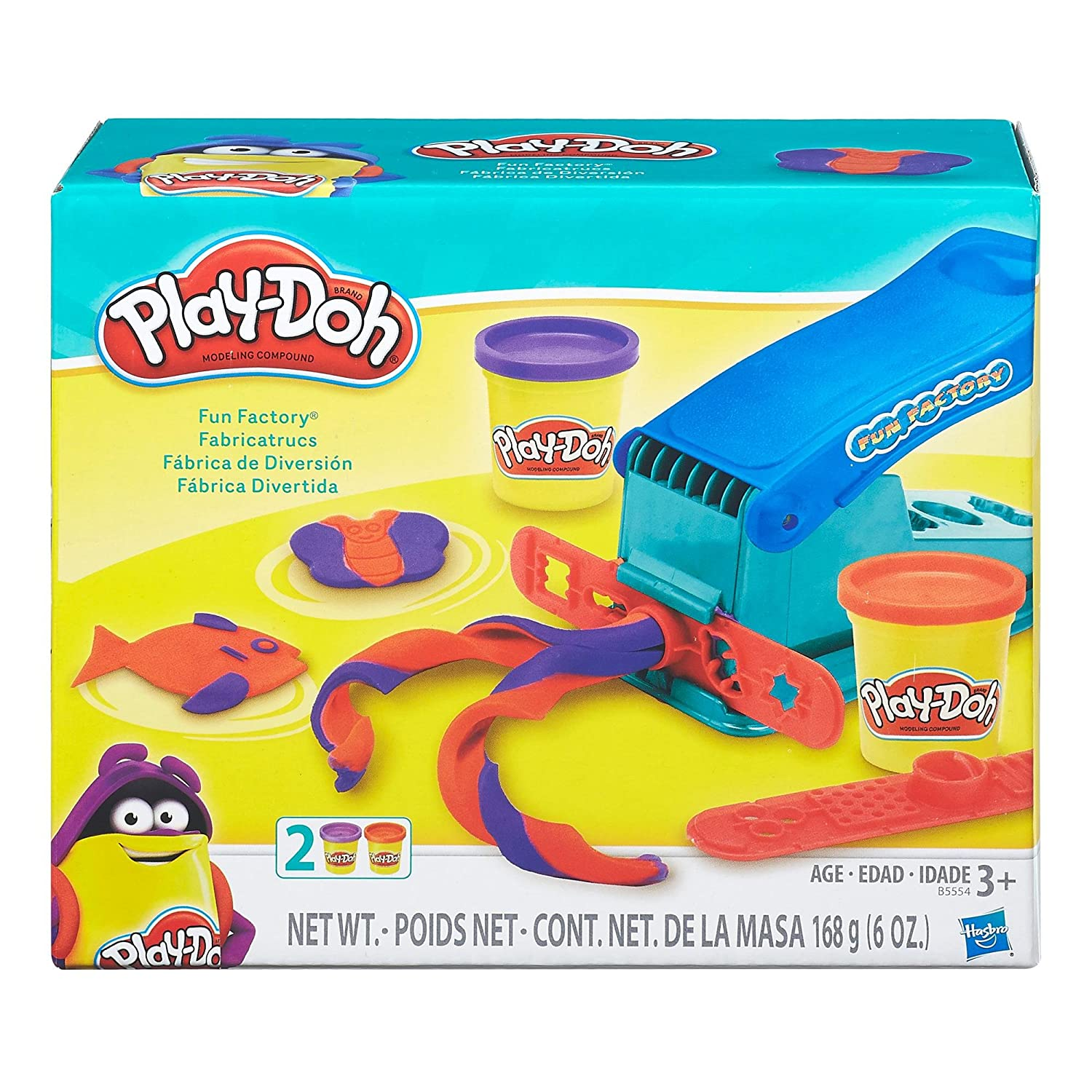 Play-Doh Fun Factory Set + Play-Doh Rainbow Starter Pack Bundle PD