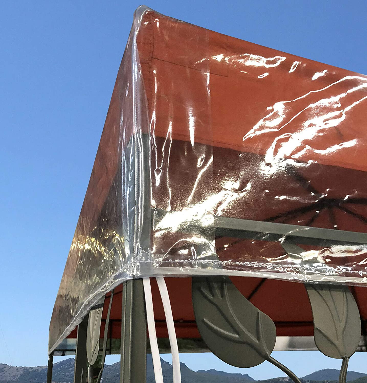 QUICK STAR Gazebo Cubierta Protectora 3 x 4 m Impermeable Transparente Protección contra la Intemperie: Amazon.es: Jardín