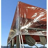 QUICK STAR Gazebo Cubierta Protectora 3 x 4 m Impermeable Transparente Protección contra la Intemperie
