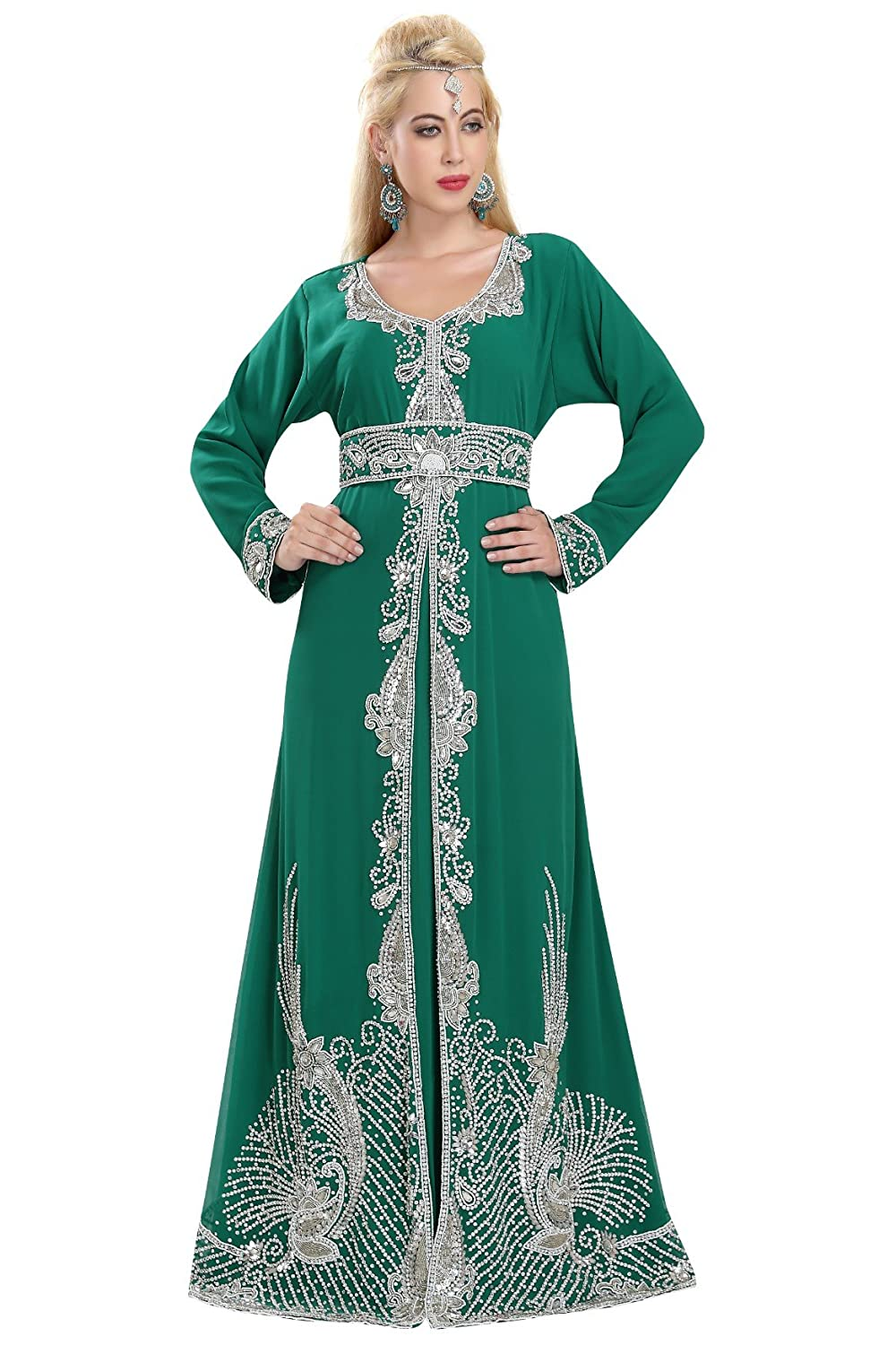 Arabian Traditional Thobe Caftan By Maxim Creation For Women 5847