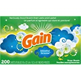 Gain GAIN Fabric Softener Dryer Sheets, Blissful Breeze, 200 Count