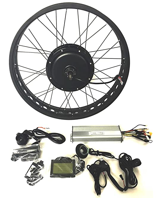 81dVKrRh0UL._SY664_ 48v1500w hub motor electric bike conversion kit 4 0 fat rim lcd  at aneh.co