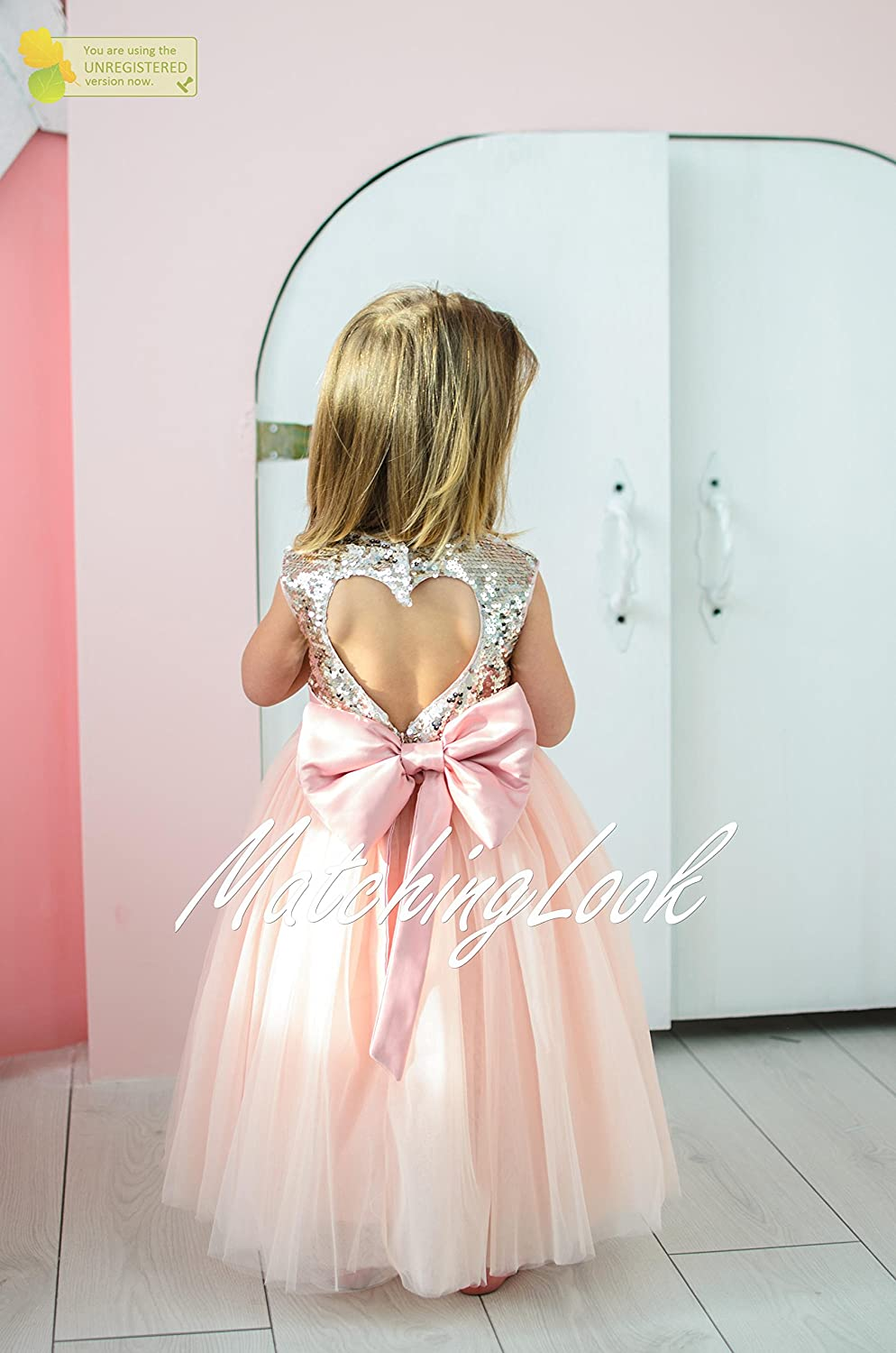 1412972c Amazon.com: Peach Gold Baby Tutu Dress, Girl Birthday Outfit, First  Birthday Dress Baby, Gold Sequin Dress, pink tutu dress, Dress with heart  in back: ...