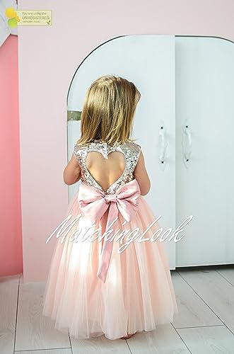 4308a9c91f Amazon.com  Peach Gold Baby Tutu Dress