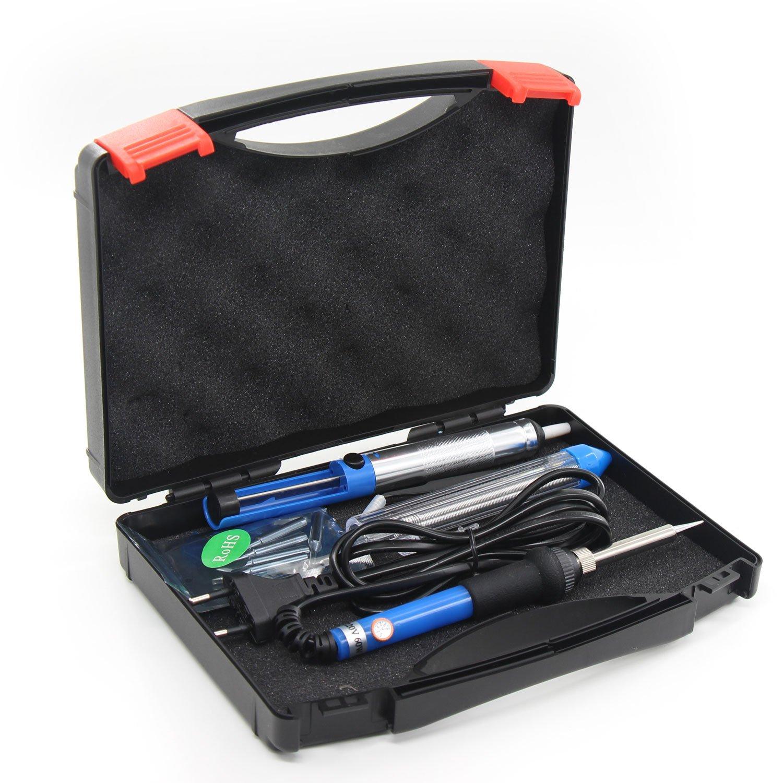 Xcellent Global Eléctrico Soldador de Temperatura Ajustable 60W 220V con Herramientas de Arranque de Soldadura PC025E: Amazon.es: Bricolaje y herramientas