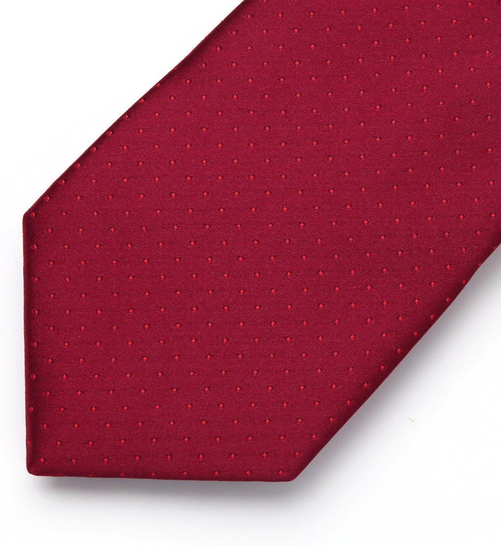 HISDERN Mens Plaid Dots Tie Woven Classic Necktie /& Pocket Square Set