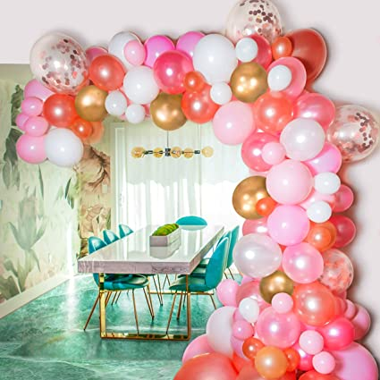 Amazon.com: Kit de guirnalda de globos Bloonsy de color rosa ...