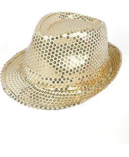 9d067787a93a1 Amazon.com  Mozlly Glamorous Sequin Fedora Hat