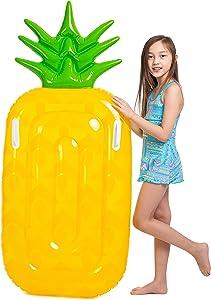 "JOYIN 58"" Inflatable Pineapple Pool Float, Fun Beach Floaties, Swim Party Toys, Pool Island, Summer Pool Raft Lounge for Kids"