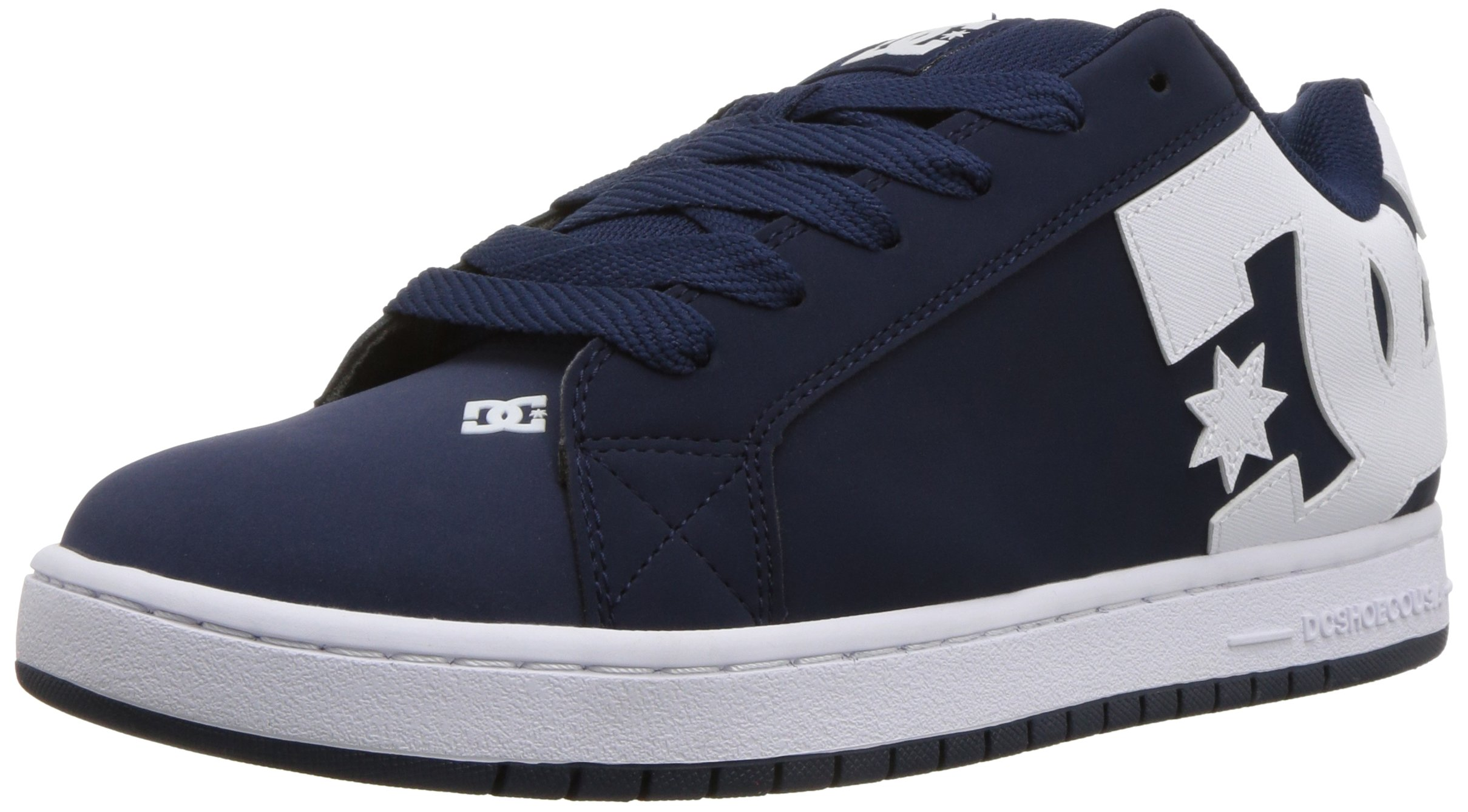 DC Men's Court Graffik Skate Shoe, Navy White 12 D D US by DC (Image #1)