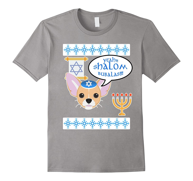 Hanukkah & Yontifs -Dog Ugly-Sweater Tee with Shalom Bubalas-ANZ