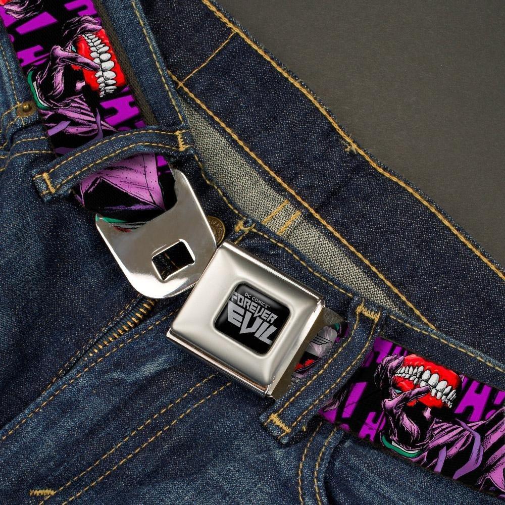 Detective Comics Joker Holding Teeth Issue Cover Pose HA Heather Black//Purple ash 1.0 Wide-20-36 Inches Buckle-Down Mens Seatbelt Belt Kids