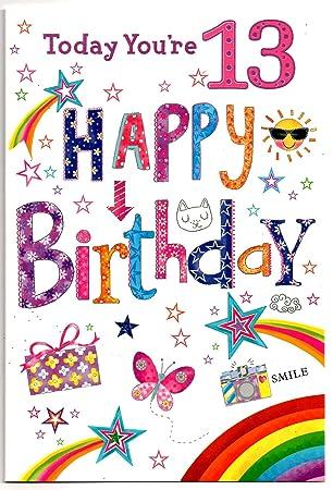 Birthday Card 13 Year Old Girl