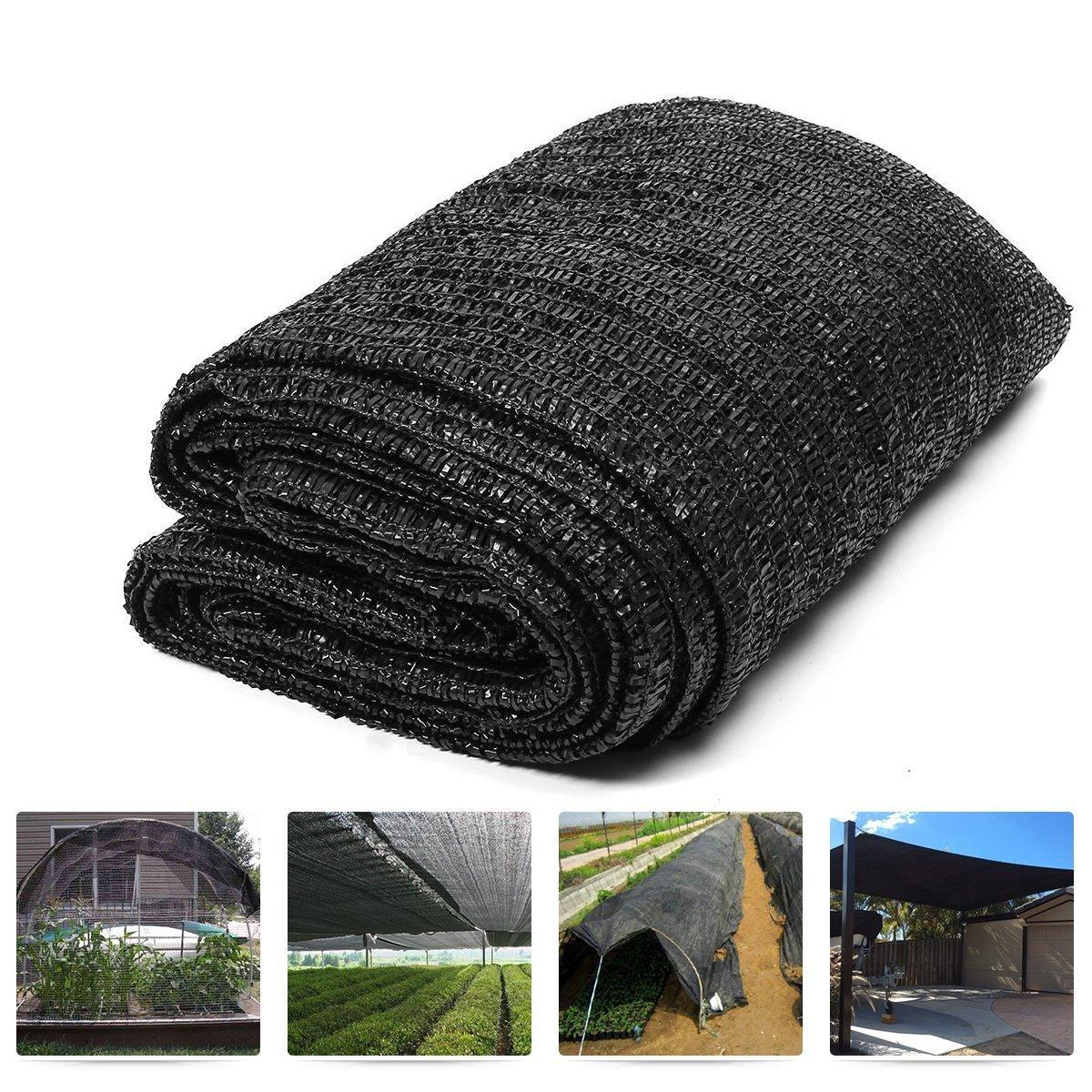 Originline Shade Cloth 6X12ft Black 70% UV Resistant Outdoor Sun Screens for Plants/Pergola/Patio/Lawn/Garden/Greenhouse/Carport/Porch Cut Edge