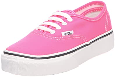 17fdb318523cb Vans Girls' Authentic , (Neon) Pink/White-7.5 Toddler