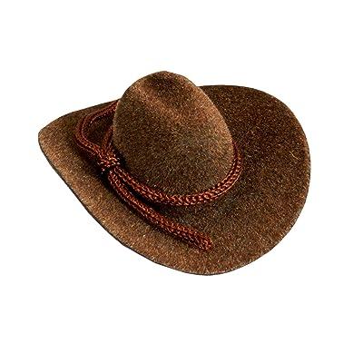 "12pcs Mini Cowboy Hat Western Wedding Favors Decoration 2"" Brown: Toys & Games"