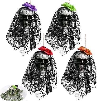 Amazoncom Halloween Decorations Scary Hanging Skull Ghost