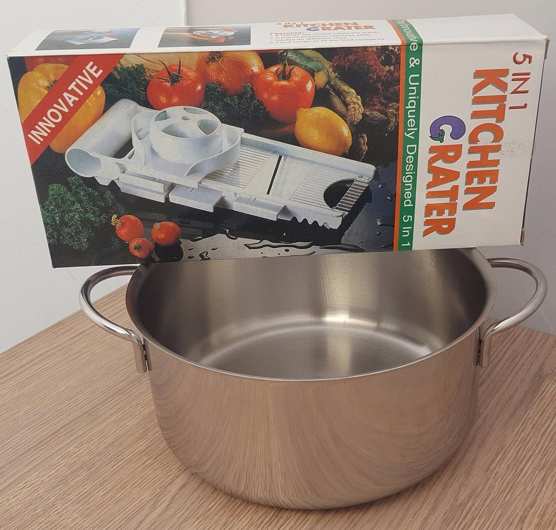 Olla de acero inoxidable para cocinas Color gas/inducción y ...