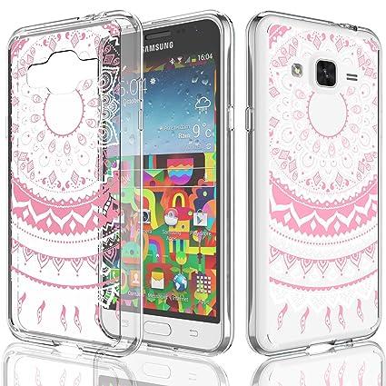 watch 773c6 cac3d Galaxy Sky Case for Girls, Galaxy J3 / J3 V/Sol / Amp Prime Case, Tekcoo  [TFlower] Transparent Ultra Thin Clear Hard TPU Skin Scratch-Proof Bumper  ...