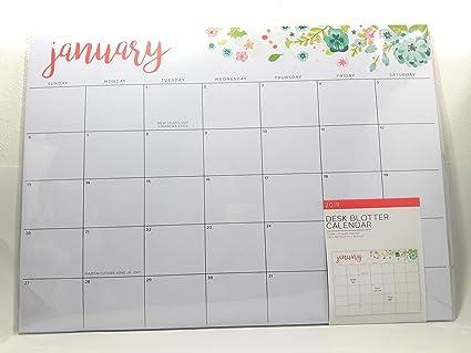 Amazon Com 2019 Blotter Desk Wall Large Jumbo Big Calendar 22x16