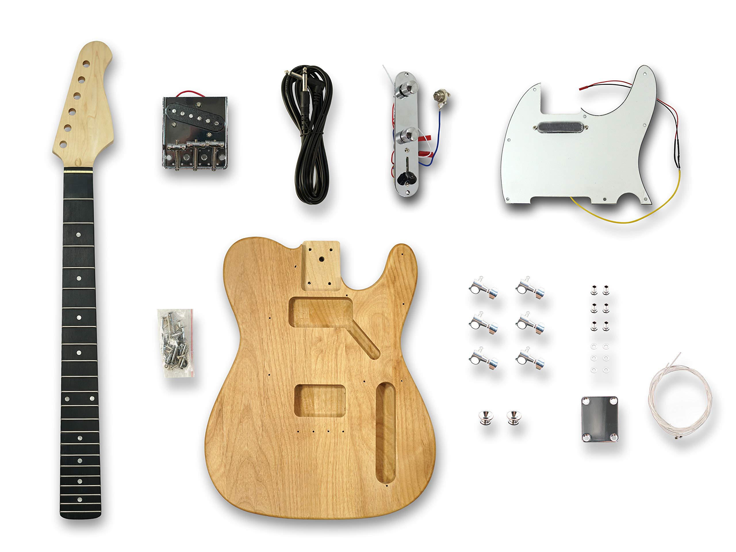 DIY Electric Guitar Kits for Telecaster Style Guitar, American Alder Body