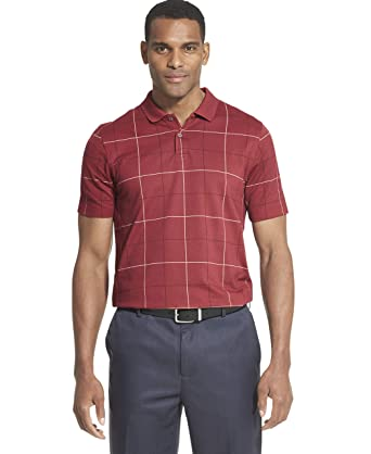 Van Heusen Mens Flex Stretch Windowpane Polo Shirt: Amazon.es ...