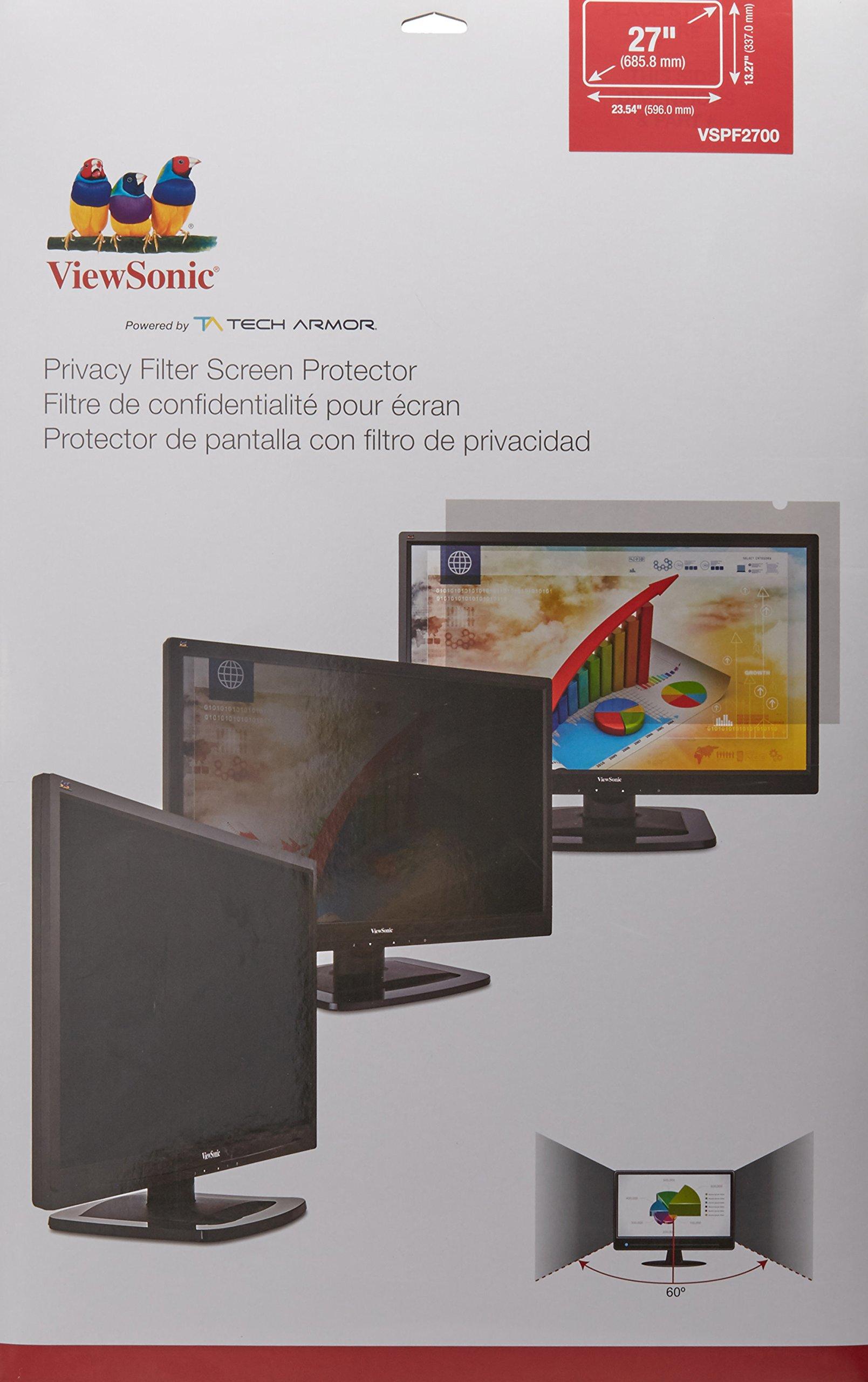 Viewsonic display privacy filter, 27'' wide (VSPF2700)