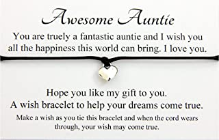 Handmade Wish bracelet for family friends wedding teacher, Come With Organza Gift bag, (Hand made in UK) (A Special Wish For the Mum To Be) Lucor Lucor-aunty122