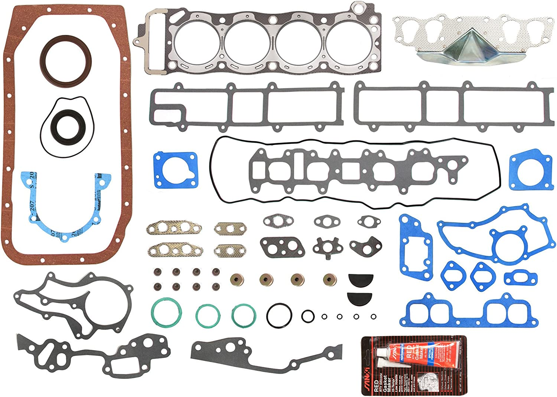 0.50mm 0.25mm Evergreen Engine Rering Kit FSBRR2000EVE\2\1\1 Fits 85-95 Toyota 4Runner Pickup Celica 22R 22RE 22REC Full Gasket Set 0.020 Oversize Piston Rings 0.010 Oversize Main Rod Bearings