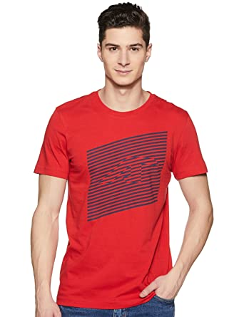 22871b93 ALCiS Men's Round Neck Cotton T-Shirt  (8904237862085_AKCOMTE0010002_Small_Red)