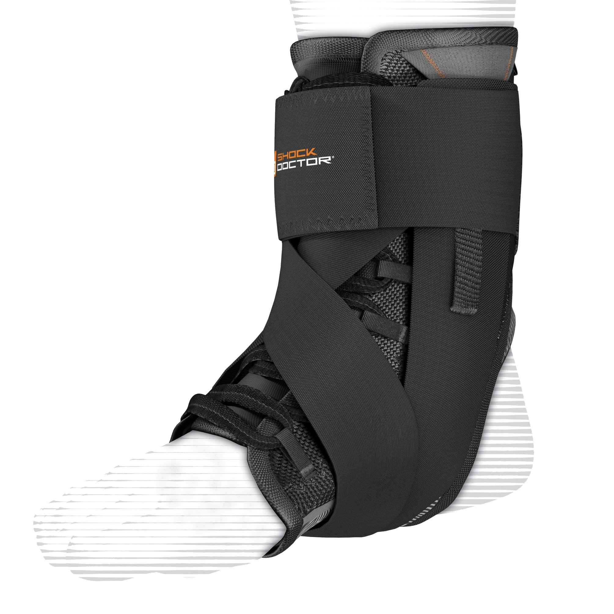 Shock Doctor Ultra Wrap Lace Ankle Support (Black, Medium, 8.5-9) by Shock Doctor