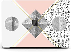 Wonder Wild Case Compatible with MacBook Air 13 inch Pro 15 2019 2018 Retina 12 11 Apple Hard Mac Protective Cover 2017 16 2020 Plastic Laptop Print Minimal Stone Pastel Geometry Circles White Dotted