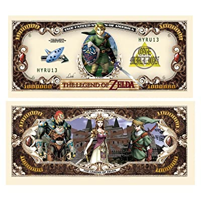 Legend of Zelda Limited Edition Collectible Novelty Million Dollar Bill - Comes In Currency Holder - Best Gift for Zelda Fans - Superior Quality: Toys & Games
