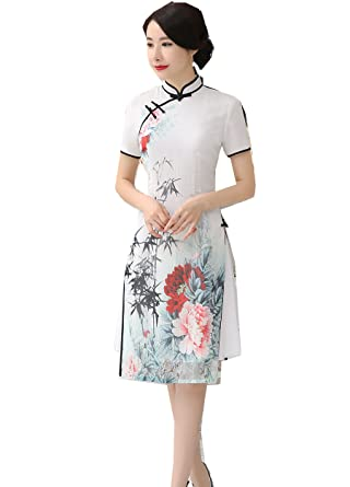 9ec0efb13 Shanghai Story Vietnam ao dai Dress Chinese Cheongsam Dress Short Qipao S  AD3