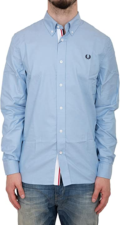 Fred Perry FP Classic Twill Shirt Camisa, Azul (Clay Blue), XXL para Hombre: Amazon.es: Ropa y accesorios