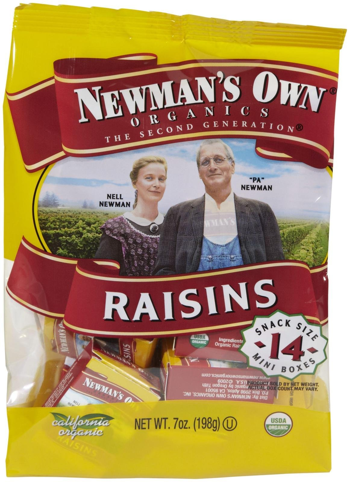 Newman's Own Organics Raisins - 0.5 oz - 14 pk