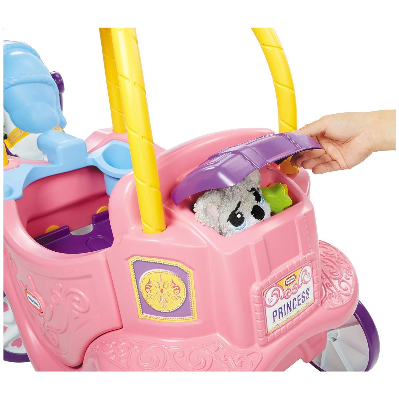little tikes Princess Horse & Carriage Apertura por Empuje - Juguetes de Montar (Apertura por Empuje, 1 año(s), 4 Rueda(s),, Child, Chica)