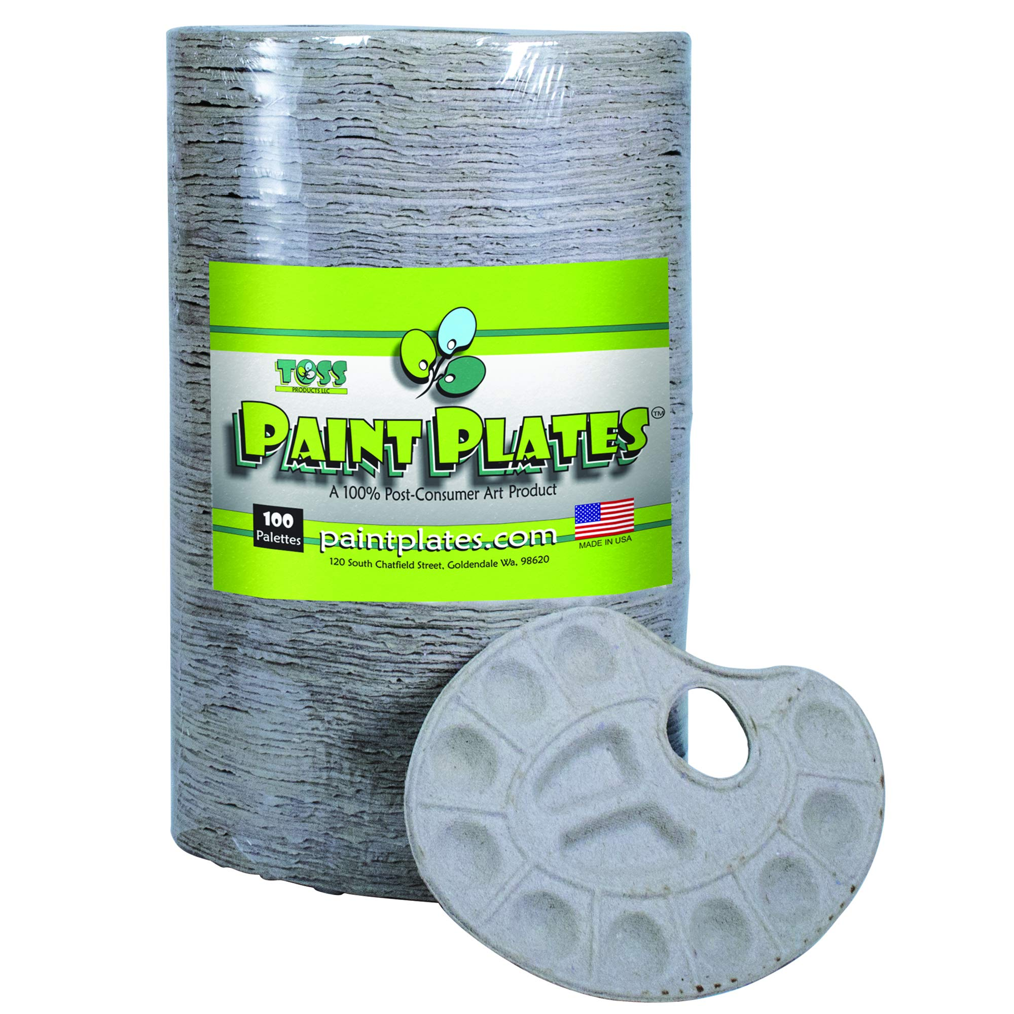 Disposable Recycled Paper Paint Palettes (100) by Paint Plates