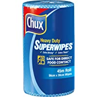Chux Heavy Duty Superwipes Roll, Blue 80 Count