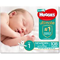 Huggies Ultimate Nappies, Boys, Size 3 Crawler (6-11kg), 72 Count
