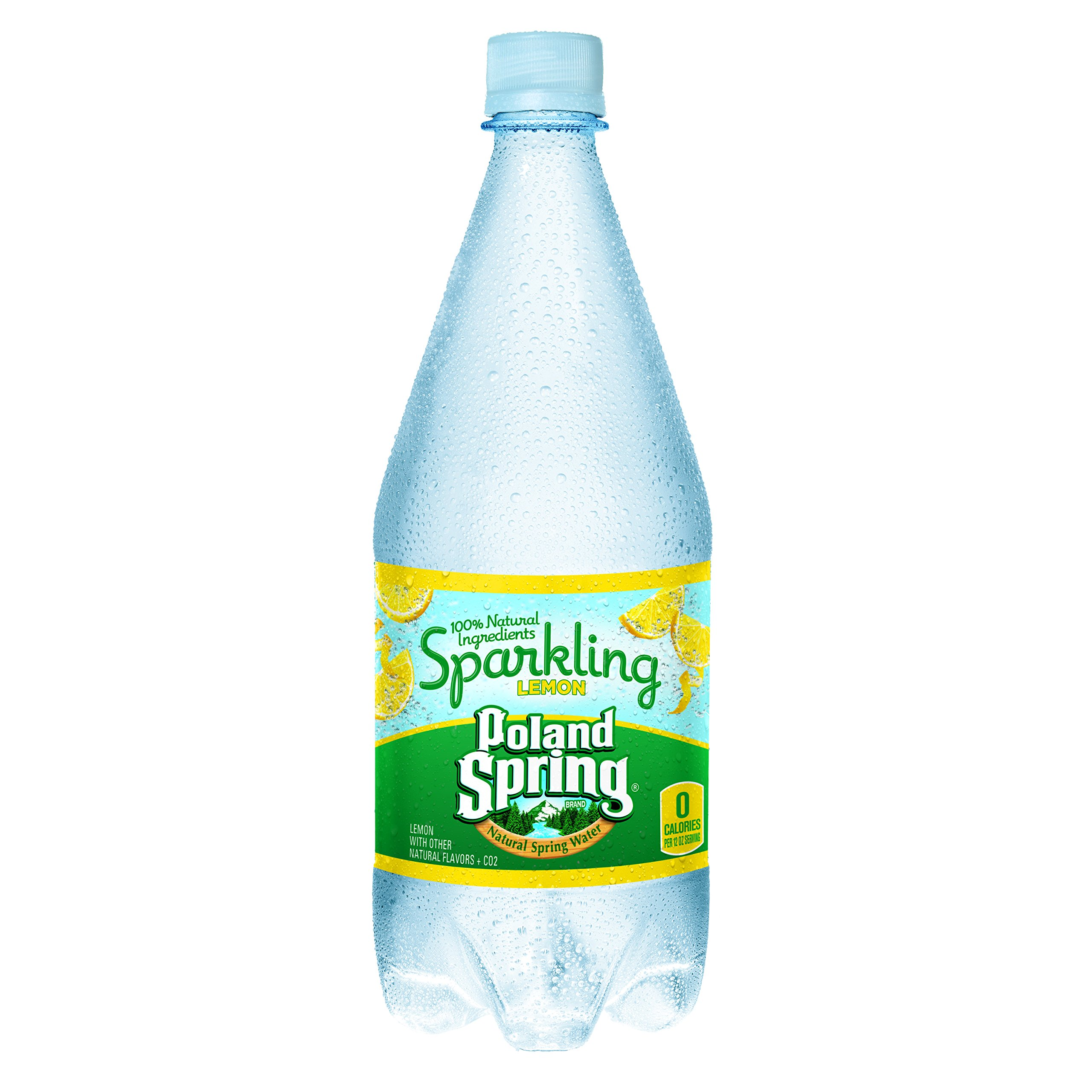 Poland Springs Sparkling Water, Lemon, 1L